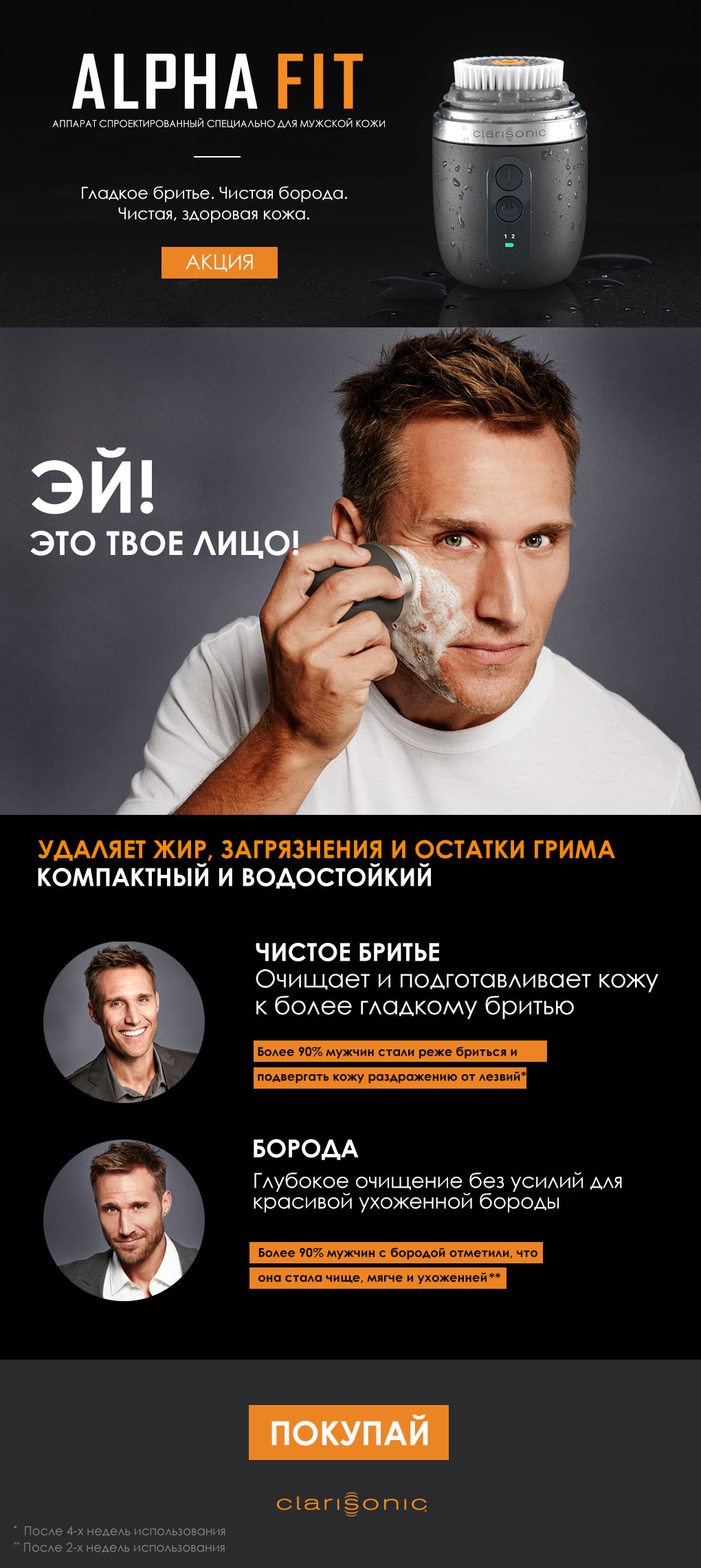 Clarisonic Alpha Fit для мужчин