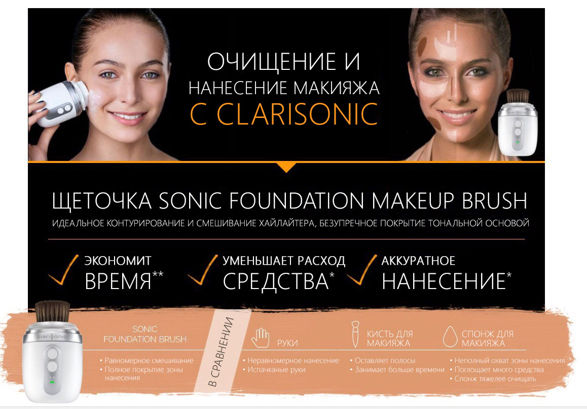 Насадка для макияжа Clarisinic SONIC FOUNDATION MAKEUP BRUSH