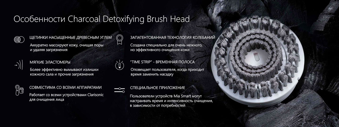 щетка для лица КларисоникCharcoal Brush Head